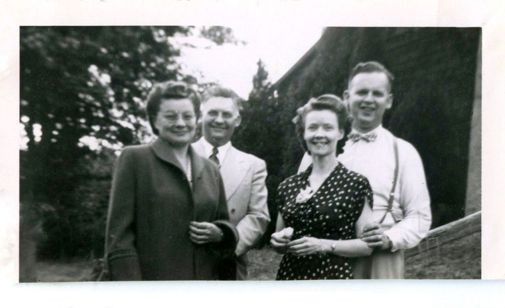 L to R: Mildred & James Apple, Norma & Mayo McPherson